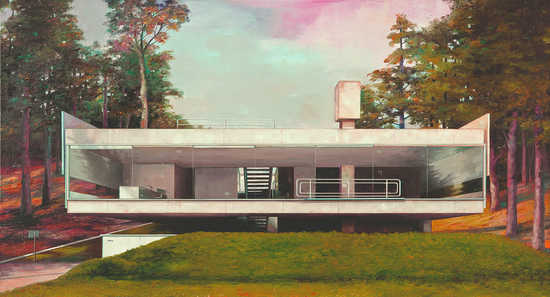 Modern house with pool by Jens Hausmann Buy pictures photo art