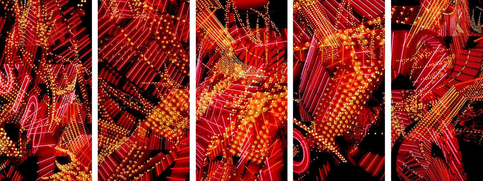 Las Vegas Flamingo Pentaptych - Jenny Okun
