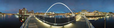 Newcastle, Gateshead Millenium Bridge by Josh Von Staudach
