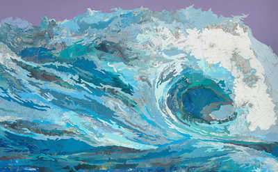 Clarissa's Wave by Matthew Cusick
