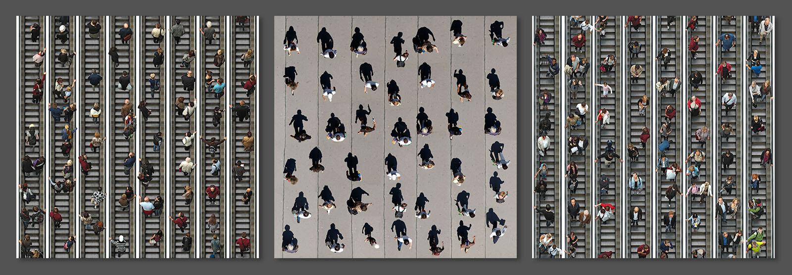 Pedestrians - Triptychon - Michael Michlmayr