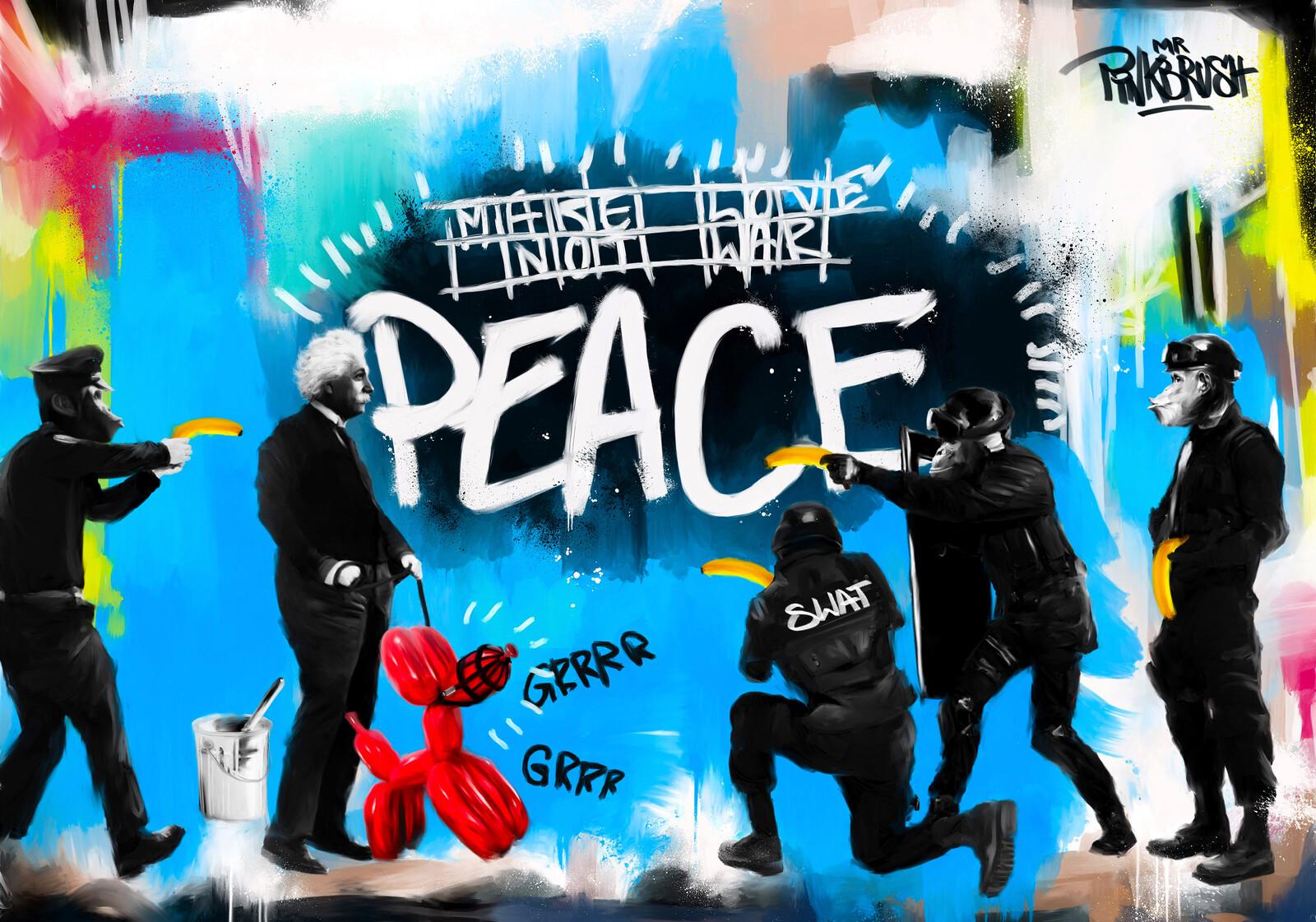 PEACE - Mr. Pinkbrush