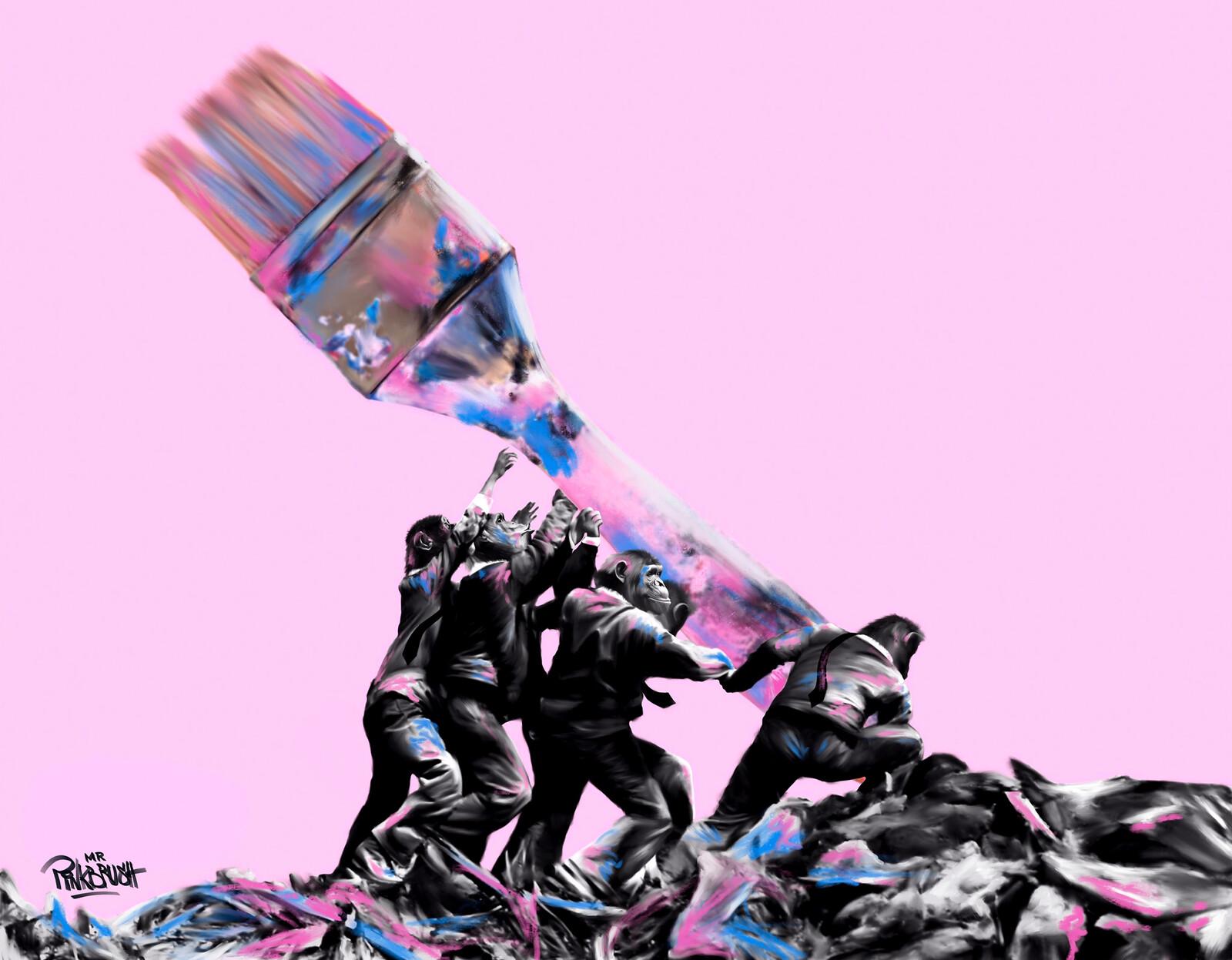 Rising the Brush - Mr. Pinkbrush