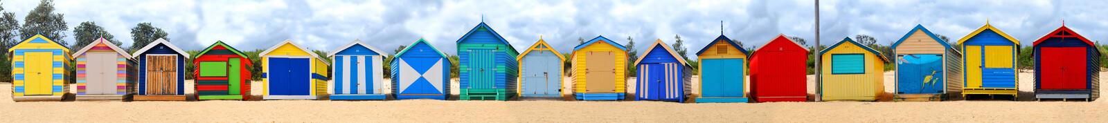 Brighton Beach Huts I - Michael Warrilow