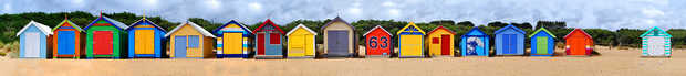 Brighton Beach Huts III - Michael Warrilow