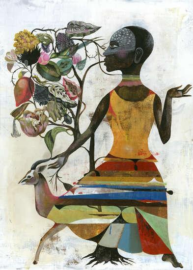 Genremalerei berühmt  Big Tree von Olaf Hajek | LUMAS