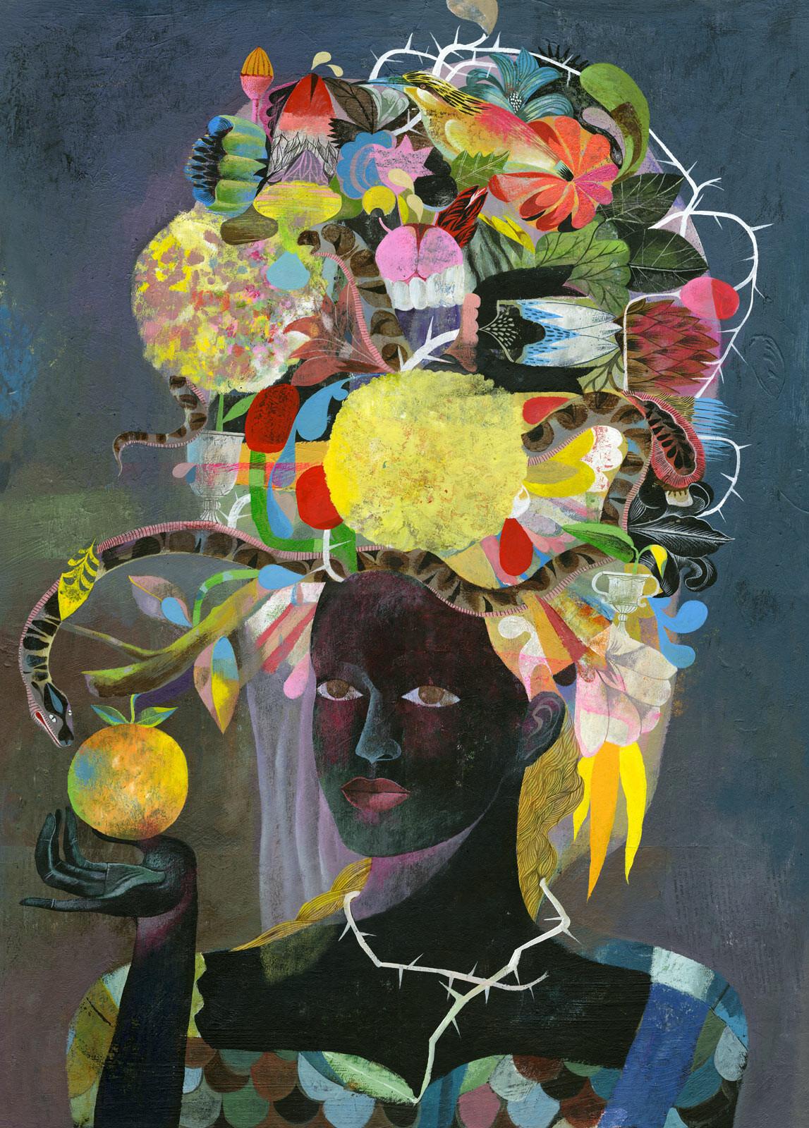 Genremalerei berühmt  Fascinator von Olaf Hajek | LUMAS