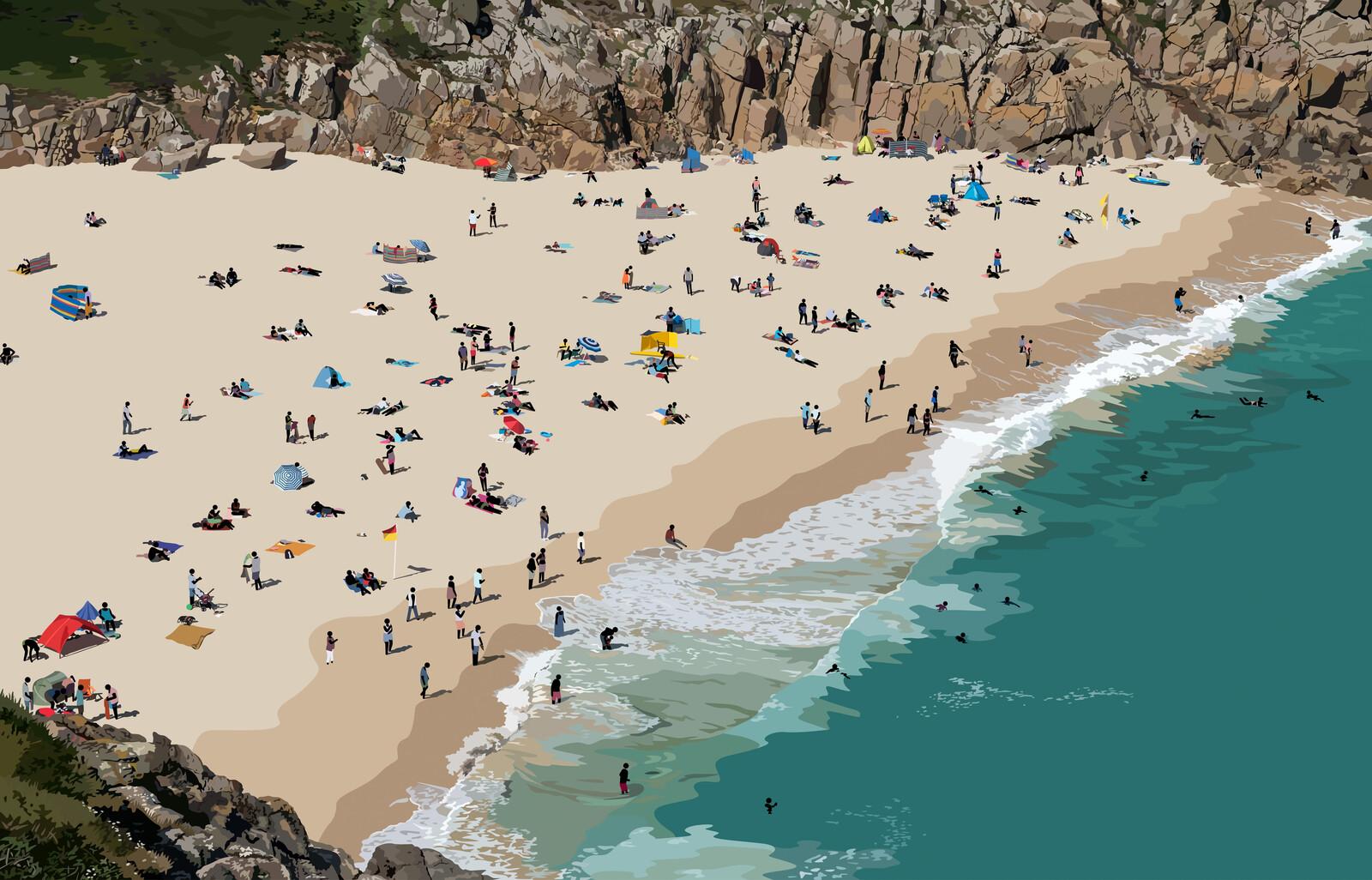 Beach Scene I - Patrick Tschudi