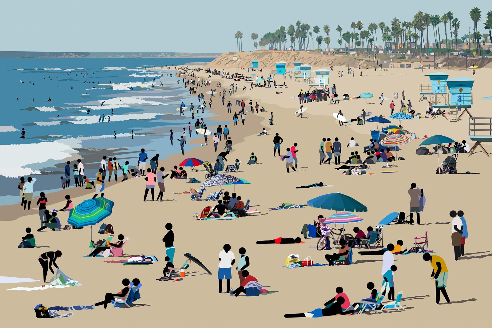 Beach Scene II - Patrick Tschudi