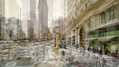Fifth Avenue Clock von Pep Ventosa