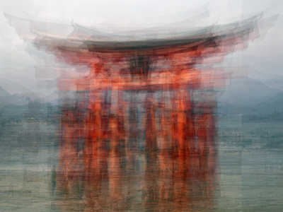 The floating Torii by Pep Ventosa