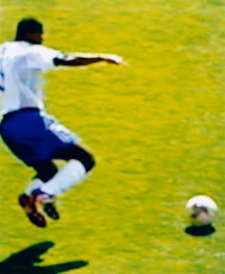 Marcel Desailly France v Denmark 0 - 2 (Group Stage) 11.06.2002, Incheon Munhak Stadium, Incheon, South Korea by Robert Davies