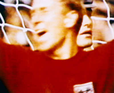 Charlton and Tilkowski England v West Germany 4-2 AET (Final) 30.06.1966,Wembley, London, England   von Robert Davies