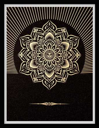 Obey Lotus Diamond (Black & Gold) - Shepard Fairey