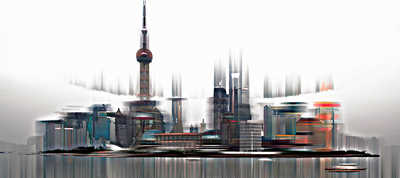 Shanghai Projections I by Sabine Wild