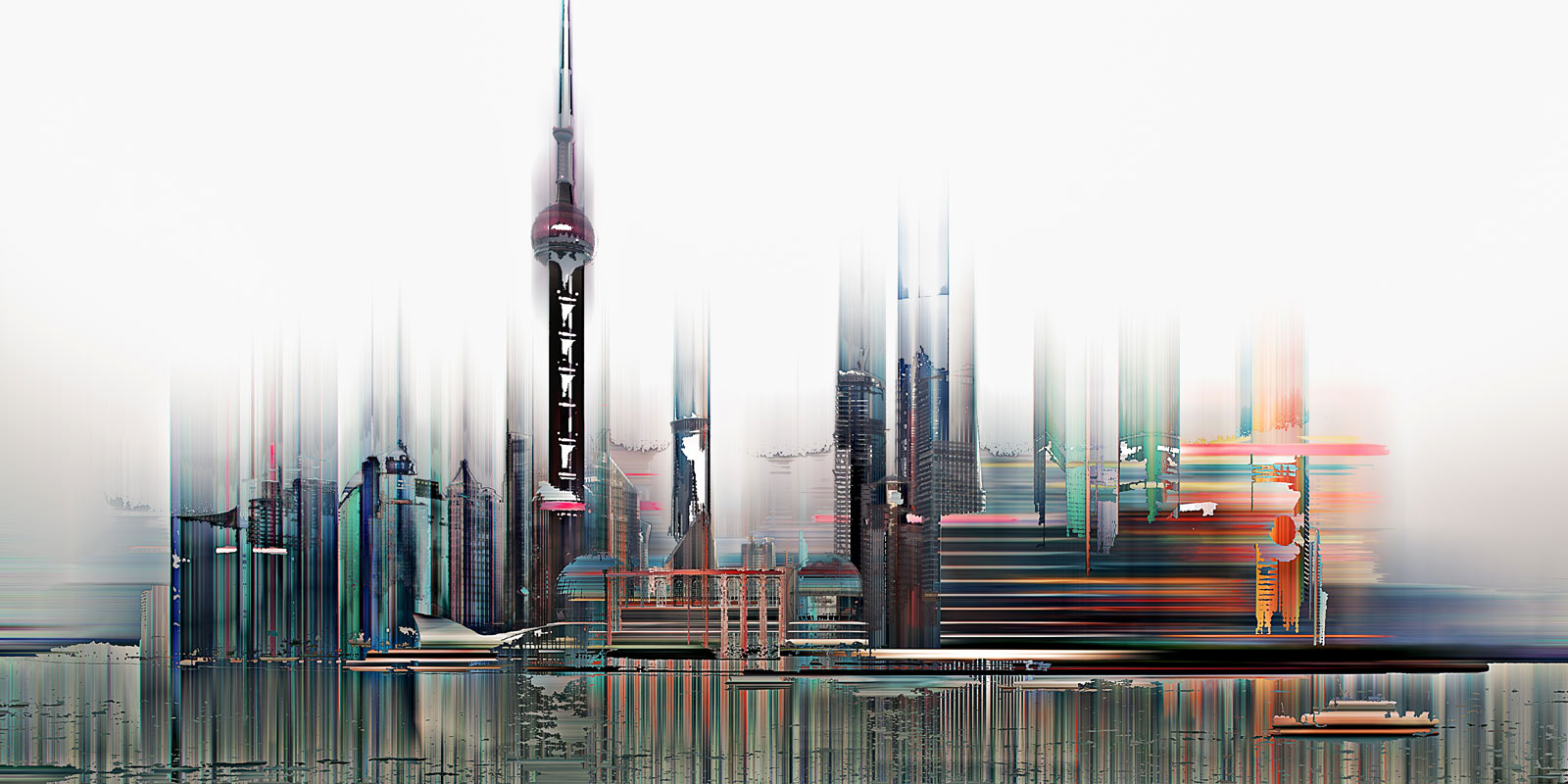 Shanghai Projections II by Sabine Wild