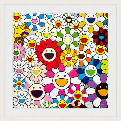 Flowers Blooming in This World and the Land of Nirvana de Takashi Murakami