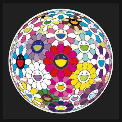 Open Your Hands Wide     by Takashi Murakami
