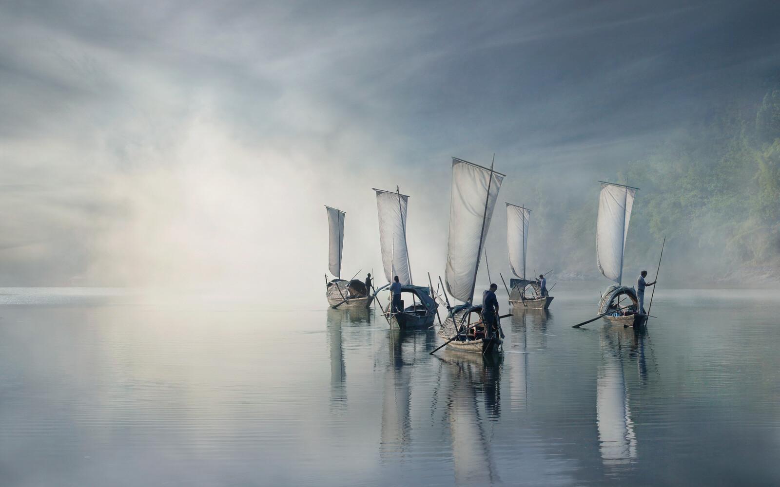 On the river - Vladimir Proshin