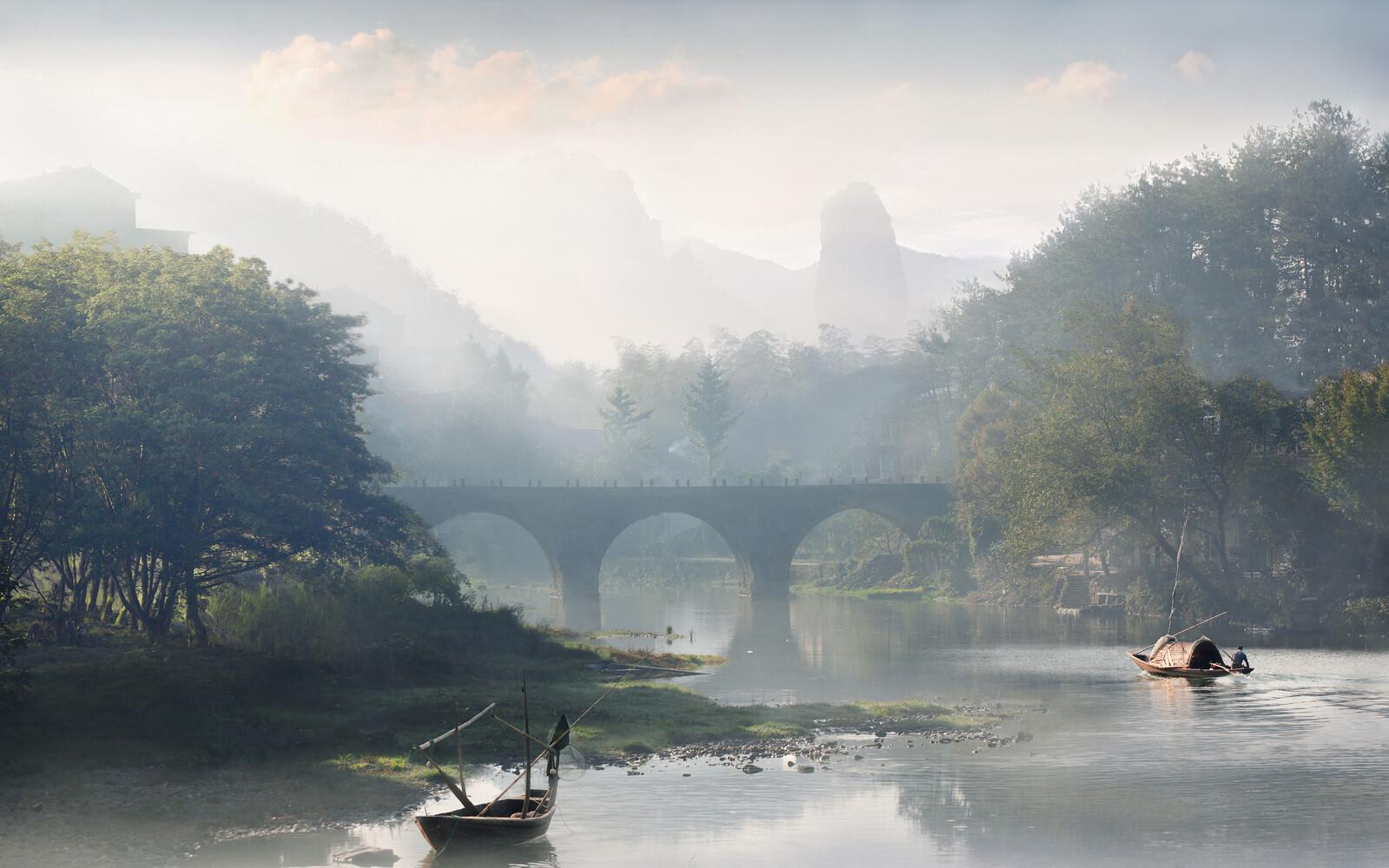 Noon on the river - Vladimir Proshin