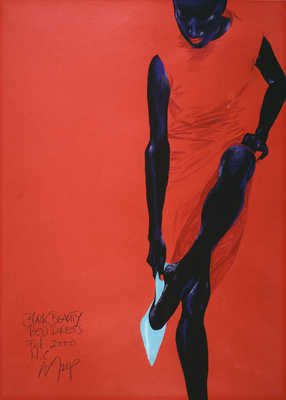 Black Beauty - Red Dress von Wolfgang Joop