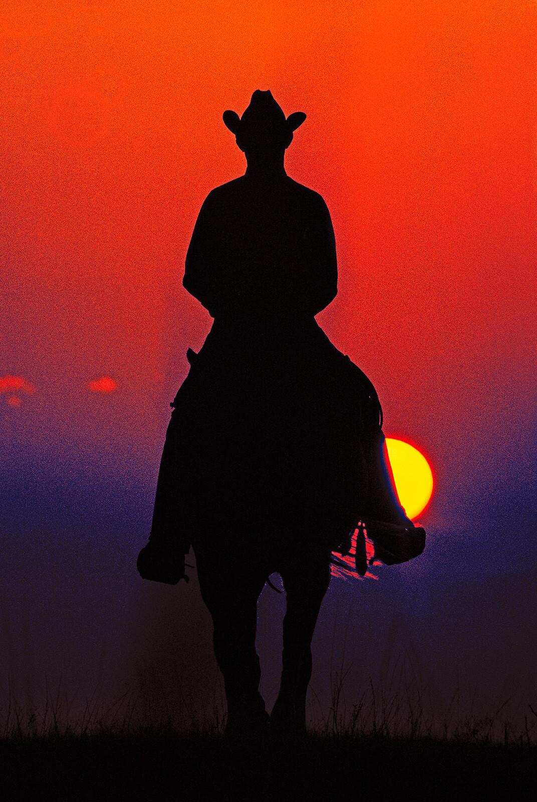 Lonely Cowboy, Texas - Dieter Blum