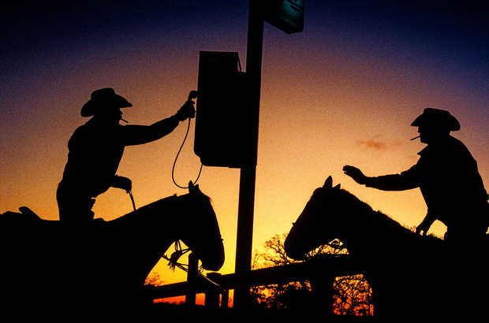 Cowboy Telefon, Texas - Dieter Blum
