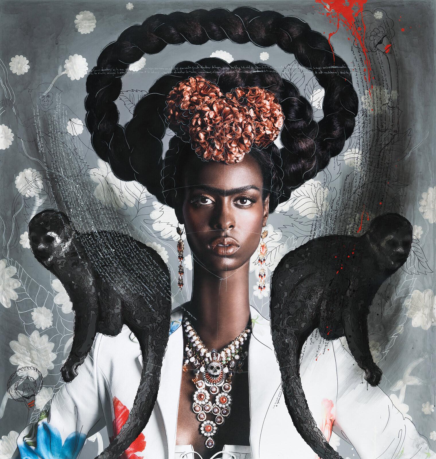 Black Frida with Monkeys - Efren Isaza