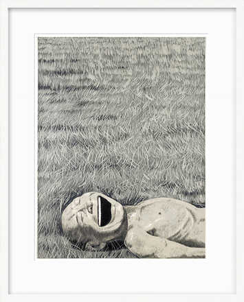 The Grassland Series, Lying Head Laughing - Yue Minjun