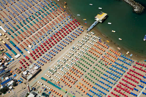 Adriatic Coast, Cattolica, Italy - Alex Maclean