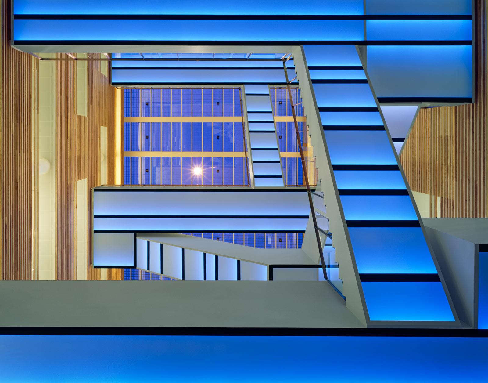 Staircase blue - Adam Mørk