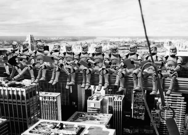 Troopers' atop a Skyscraper - David Eger