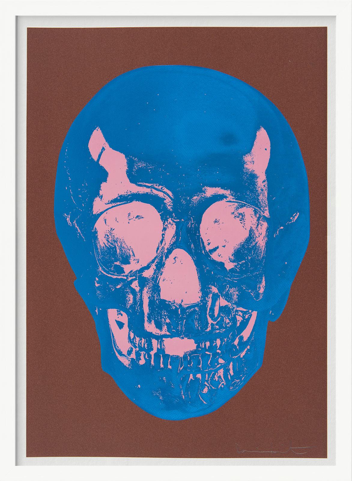 Till Death Do Us Part - Milk - Chocolate Brown True Blue Bubblegum Pink Skull - Damien Hirst