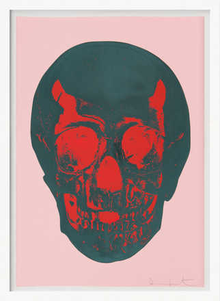 Till Death Do Us Part - Candy Floss - Pink Racing Green Pigment Red Pop Skull - Damien Hirst