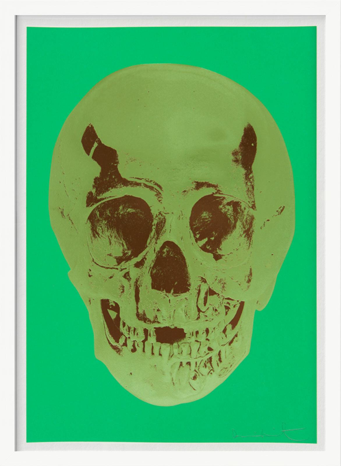 Till Death Do Us Part - Viridian - Leaf Green Chocolate Skull - Damien Hirst