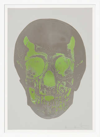 Till Death Do Us Part - Dove Grey Gunmetal Leaf Green Skull - Damien Hirst