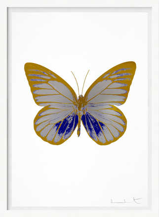 The Souls I - Silver Gloss  Westminster Blue Oriental Gold         - Damien Hirst