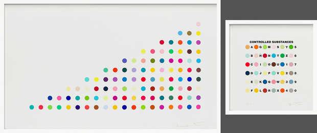 Controlled Substance Key Spot in pair with Phendimetrazine  - Damien Hirst