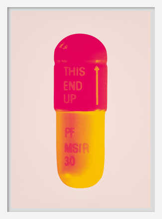 The Cure - Powder Pink/Lollypop Red/Golden Yellow - Damien Hirst