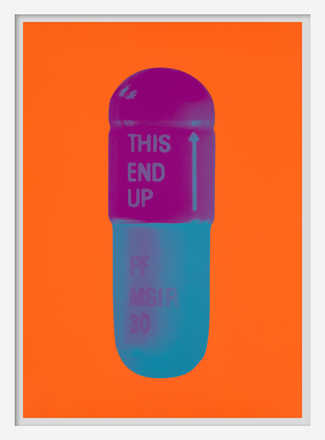 The Cure - Bright Orange/Orchid/Air Force Blue - Damien Hirst