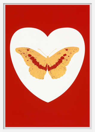 I Love You - white, red cool gold, poppy red - Damien Hirst