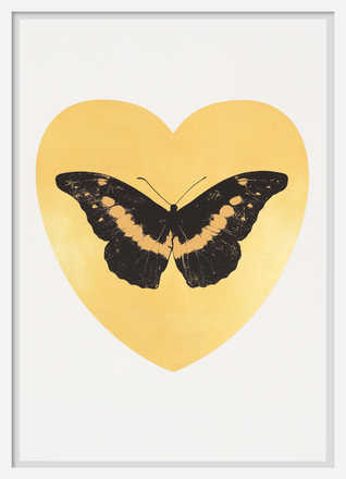 I Love You - gold leaf, black, cool gold - Damien Hirst