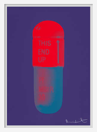 The Cure - Violet/Electric Red/Powder Blue - Damien Hirst