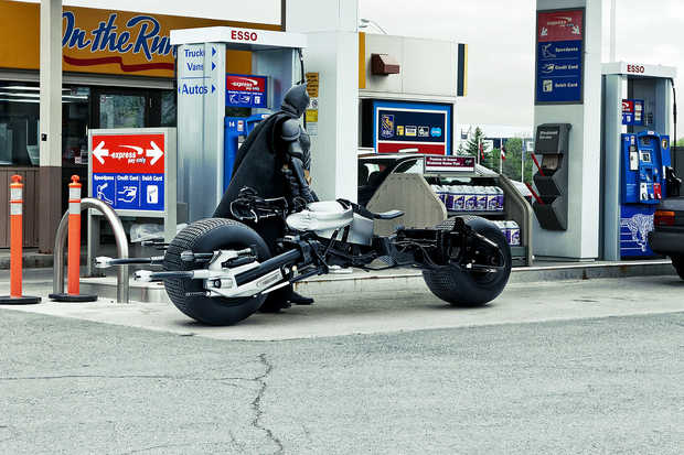 Bat-Pod at the Gas Station - Daniel Picard