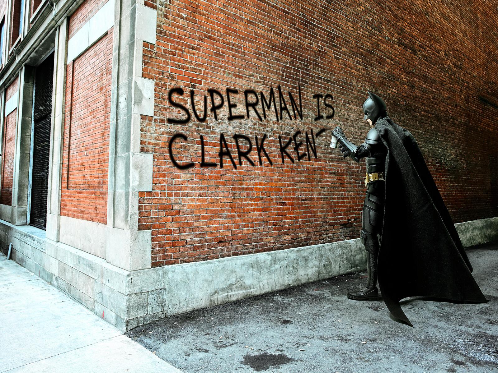 Clark Kent Graffiti - Daniel Picard