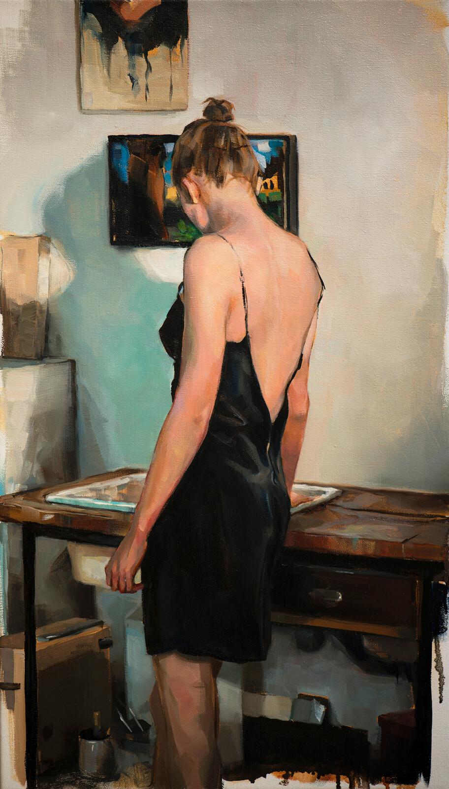 Vor der Spüle im Atelier - Edward B. Gordon