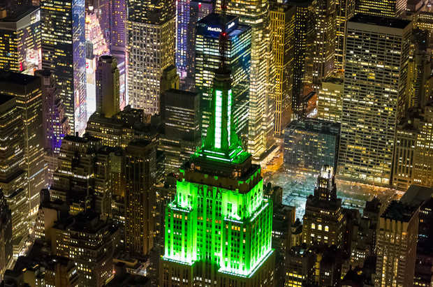 The Empire State Building on St. Patrick's Day - Evan Joseph
