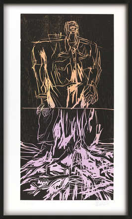 Geteilter Held (Remix) - Georg Baselitz