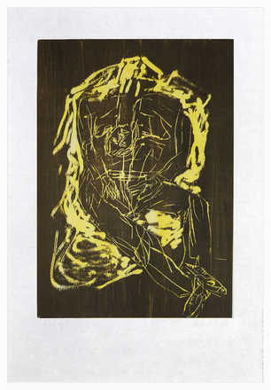 Remix, Haus (Version Braun/Gelb) - Georg Baselitz