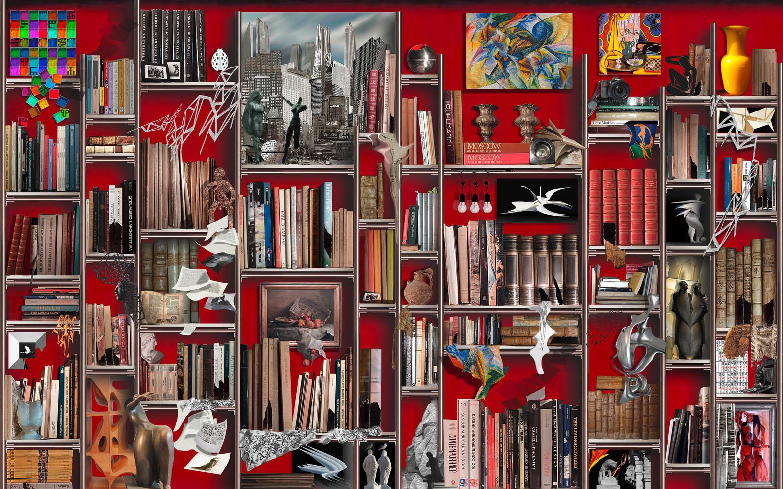 The dreamlike bookcase - Giorgio Lo Cascio